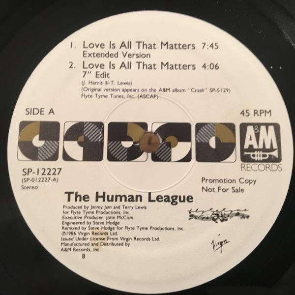 ☆Human League/Love Is All That Matters☆SYNTH POP名作!