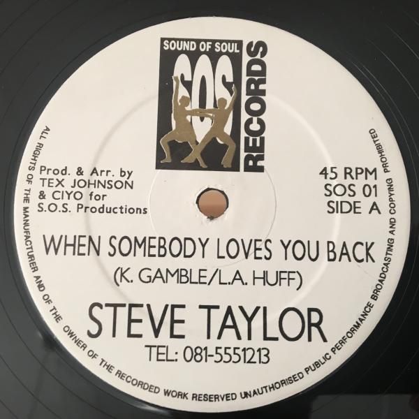 ★Steve Taylor/When Somebody Loves You Back★メロウUK SOUL/LOVERS ROCK!_画像1