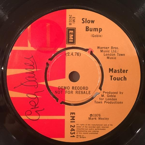 ☆Master Touch/Touch Me☆謎UK SLEAZY BOOGIE!7inch 45_画像2