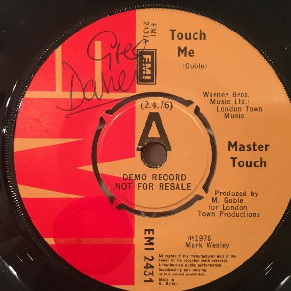 ☆Master Touch/Touch Me☆謎UK SLEAZY BOOGIE!7inch 45_画像1