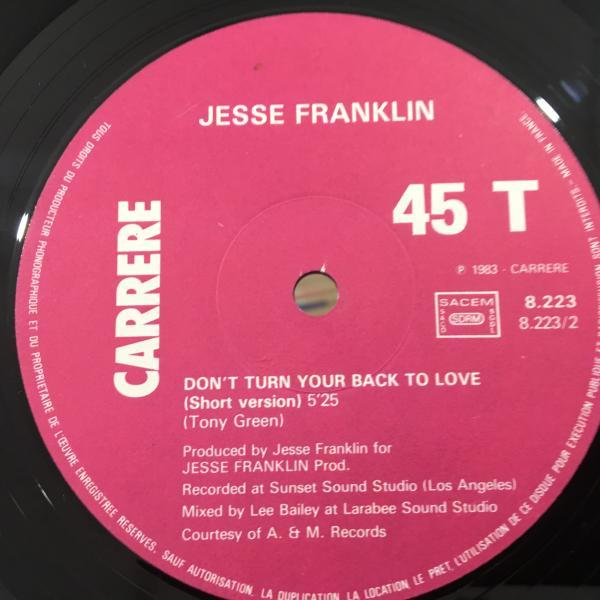 ☆Jesse Franklin/Don't Turn, Your Back On Love☆FRENCH MODERN SOUL/BOOGIE!_画像3