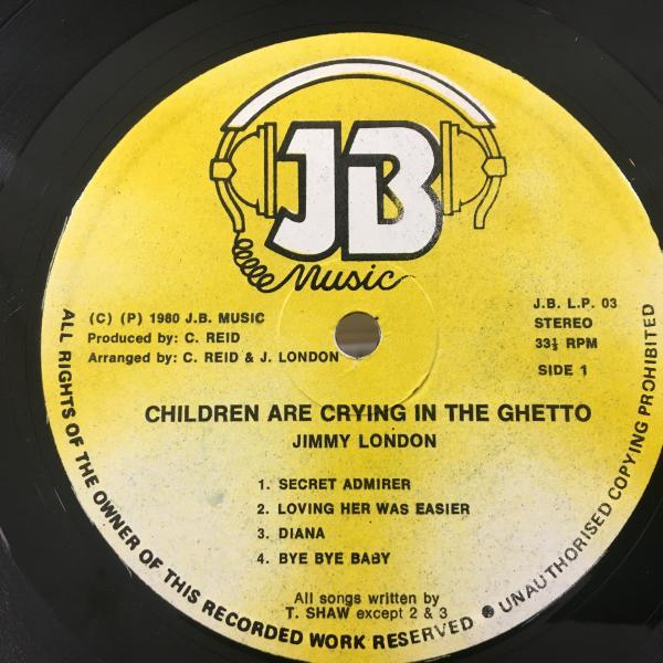 ★Jimmy London/Children Are Crying In The Ghetto★メロウLOVERS LP!_画像2