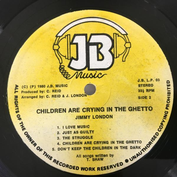★Jimmy London/Children Are Crying In The Ghetto★メロウLOVERS LP!_画像3