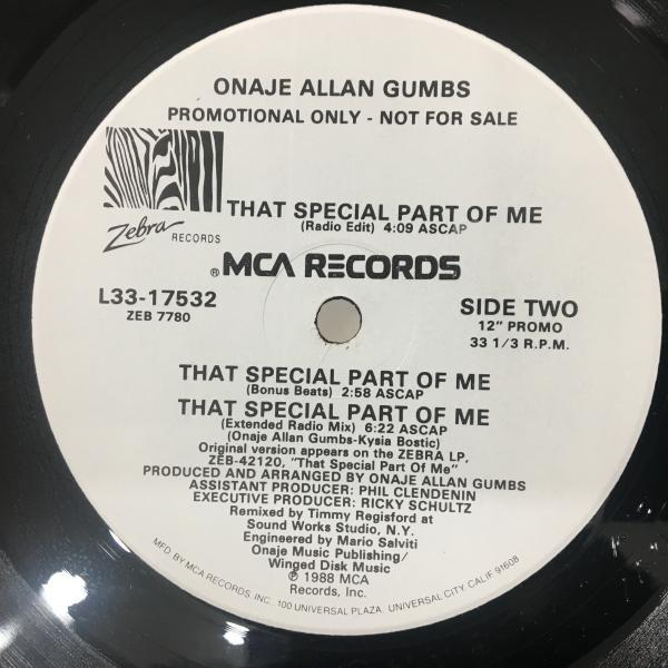 ☆Onaje Allan Gumbs/That Special Part Of Me☆MELLOW US 80s BOOGIE!_画像2