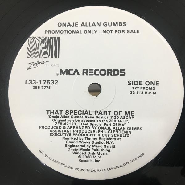 ☆Onaje Allan Gumbs/That Special Part Of Me☆MELLOW US 80s BOOGIE!_画像1