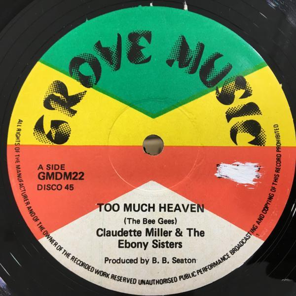 ★Claudette Miller/Too Much Heaven★人気メロウLOVERS ROCK!_画像1
