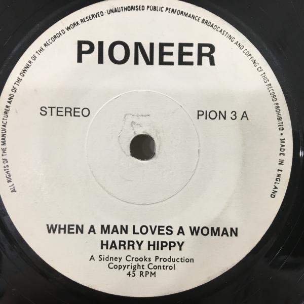 ★Harry Hippy/When A Man Loves A Woman★ソウル名曲カバー!7inch 45_画像1