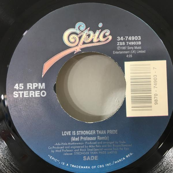 ★Sade/Love Is Stronger Than Pride★MAD教授REMIX!7inch 45