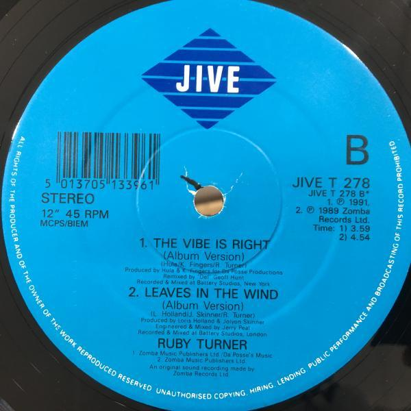 ☆Ruby Turner/Vibe Is Right☆メロウHOUSE CLASSIC!_画像3