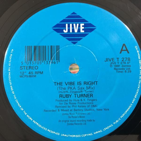 ☆Ruby Turner/Vibe Is Right☆メロウHOUSE CLASSIC!_画像2