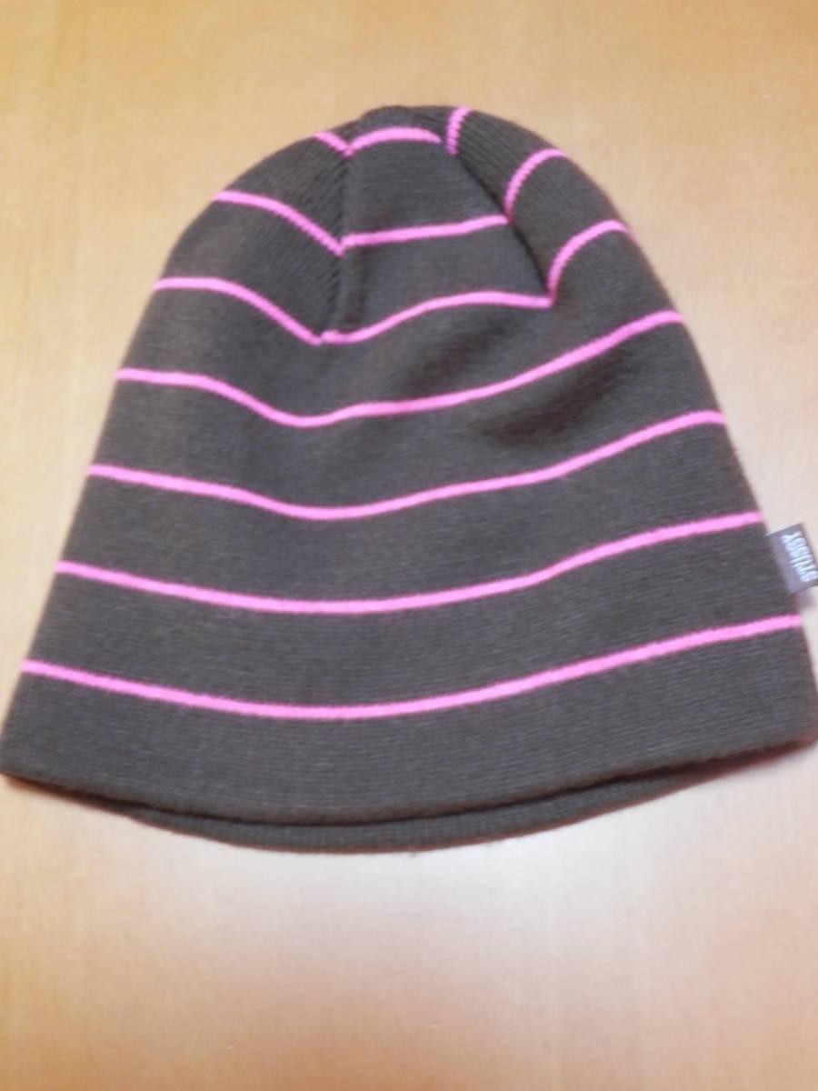 Stussy ステューシー ボーダー beanie ビーニー SSタグ ニット帽 正規品 美品 希少 _画像1