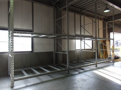 姫路 3連結 パレット ラック 重量棚 W790 内寸250 D150 H450 引取希望
