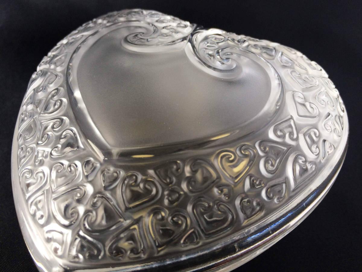 【美品】R lalique ルネラリック ハート 小物入れ パウダー ジュエリーボックス  フロステッド フランス アンティーク_画像2