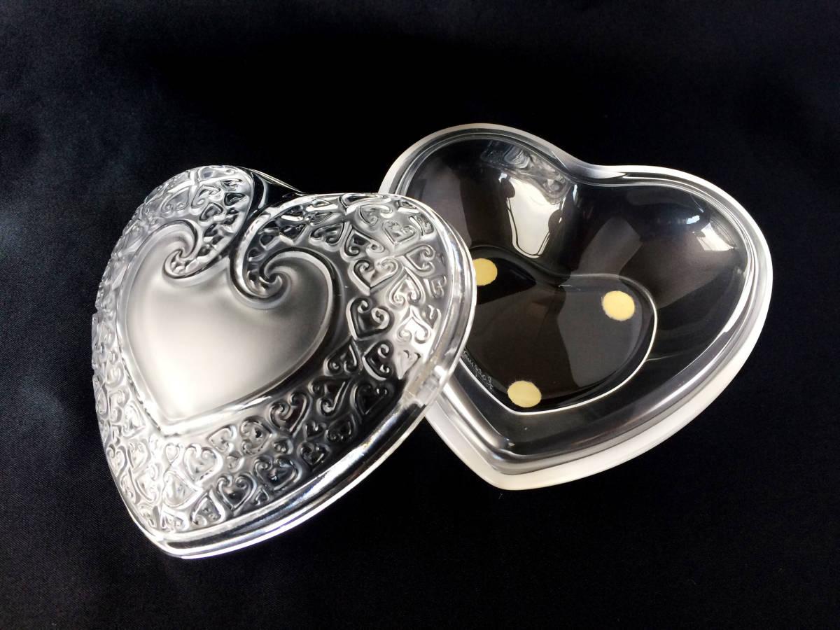 【美品】R lalique ルネラリック ハート 小物入れ パウダー ジュエリーボックス  フロステッド フランス アンティーク_画像5