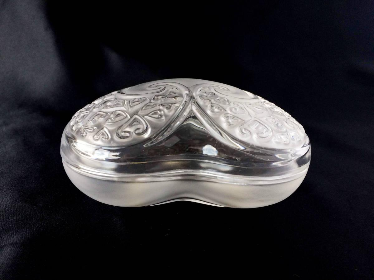 【美品】R lalique ルネラリック ハート 小物入れ パウダー ジュエリーボックス  フロステッド フランス アンティーク_画像4