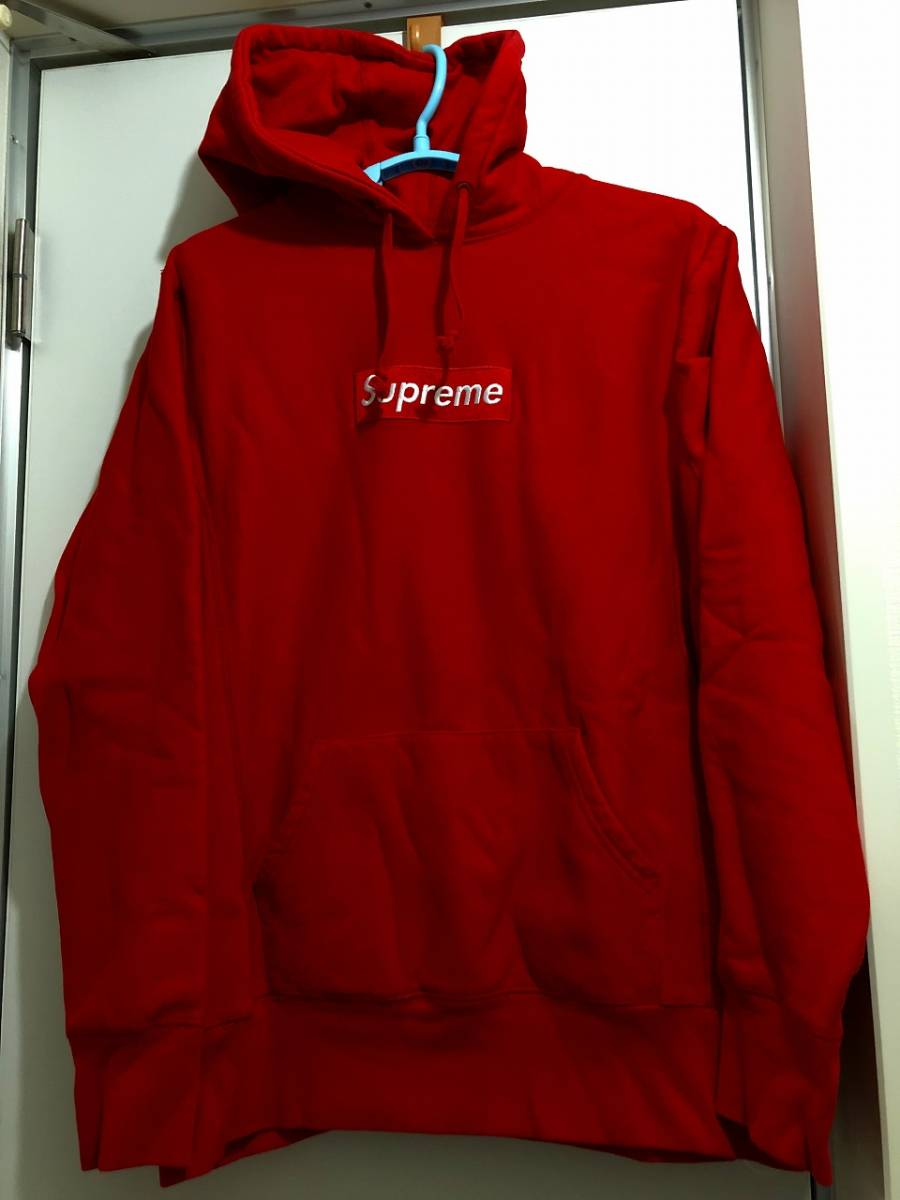 Supreme Box Logo Pullover Red Mサイズ ボックスロゴ パーカー Hoodie フーディー OLD