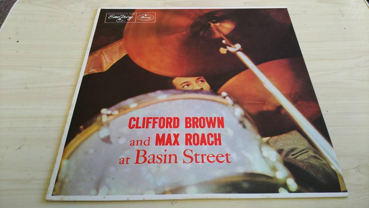 即決あり LP モノラル CLIFFORD BROWN/クリフォードブラウン/MAX ROACH/マックスローチ/AT BASIN STREET _画像1
