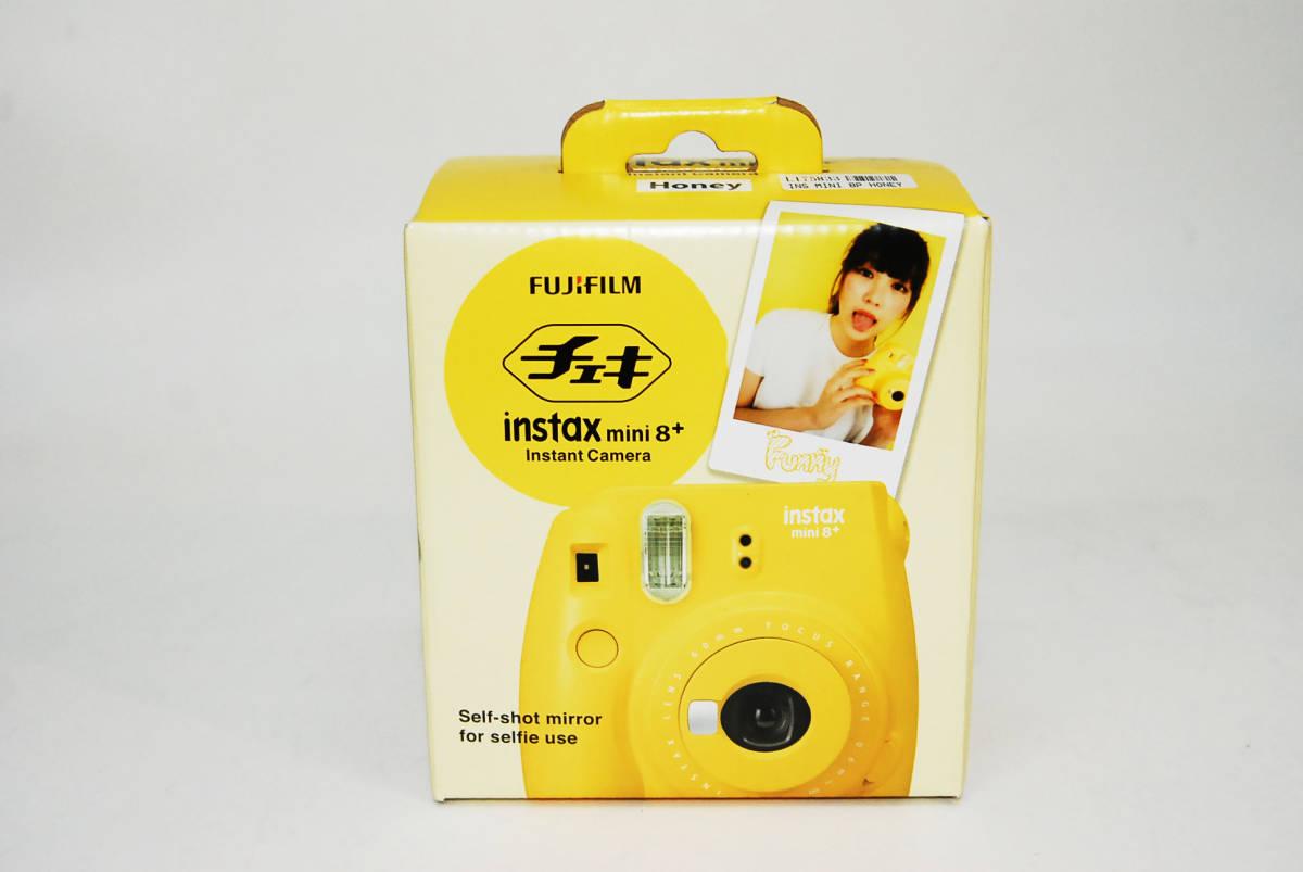 ★☆新品 FUJIFILM フジフィルム インスタントカメラ チェキ instax mini 8+ プラス  ハニー☆★