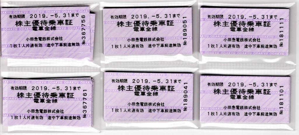 小田急電鉄 株主優待乗車証(キップ)-60枚 簡易書留込み