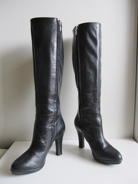aventuras saldar anfitriona  beautiful goods GEOX RESPIRA 37 black long boots 23.5 - 24cm original  leather ultimate beautiful goods geo ks long boots beautiful boots leather  thickness bottom knee high boots Special profit : Real Yahoo auction salling