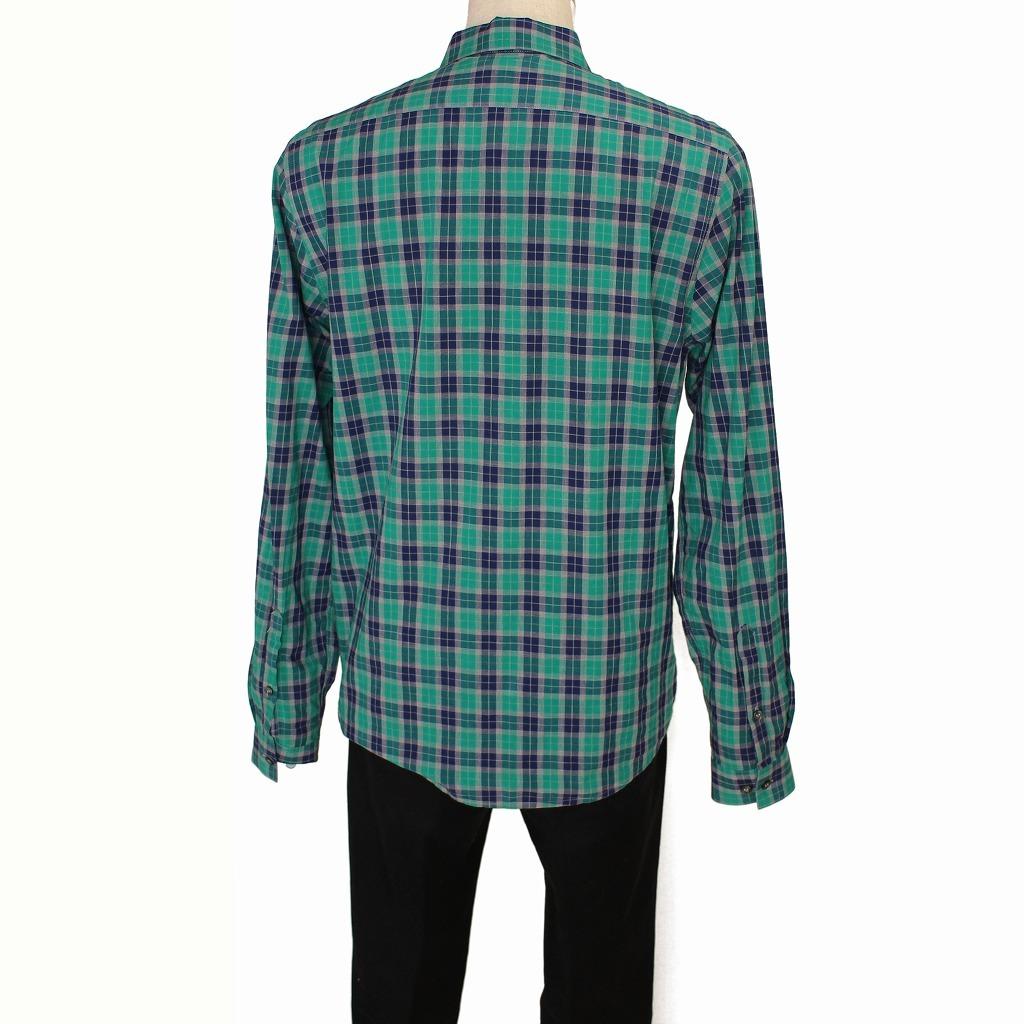 チェック シャツ 長袖 メンズ US Mサイズ H&M 古着 美品 送料込み_画像3