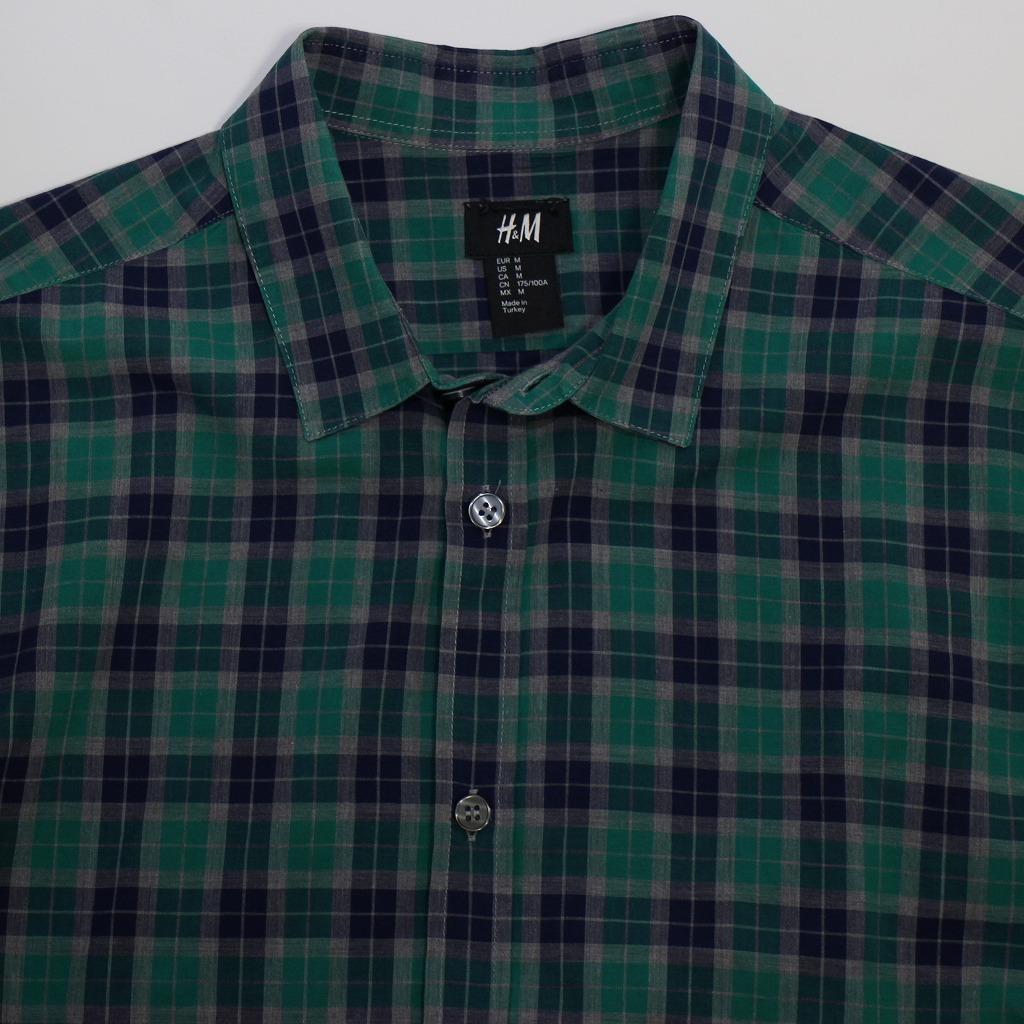 チェック シャツ 長袖 メンズ US Mサイズ H&M 古着 美品 送料込み_画像6