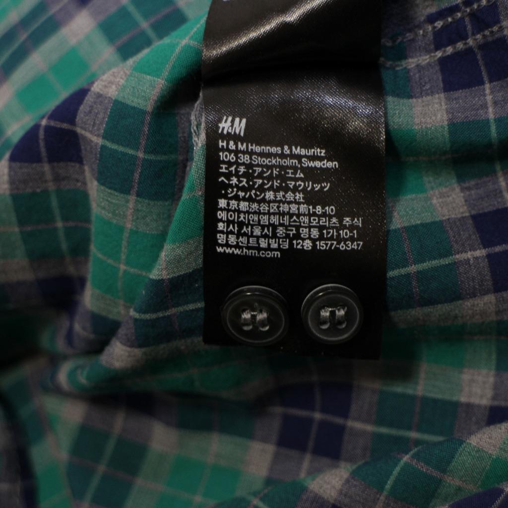 チェック シャツ 長袖 メンズ US Mサイズ H&M 古着 美品 送料込み_画像8