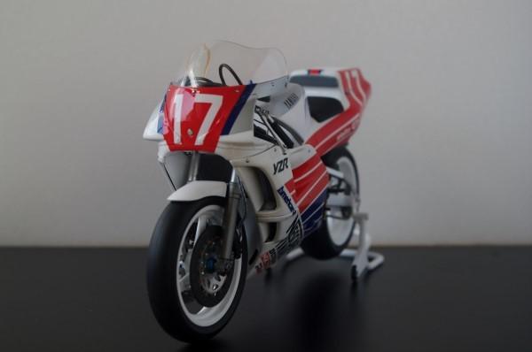 ★1/12 YAMAHA YZR500 (OWA8) 1989 全日本ロードレース GP500 塗装完成品(ハセガワ製)
