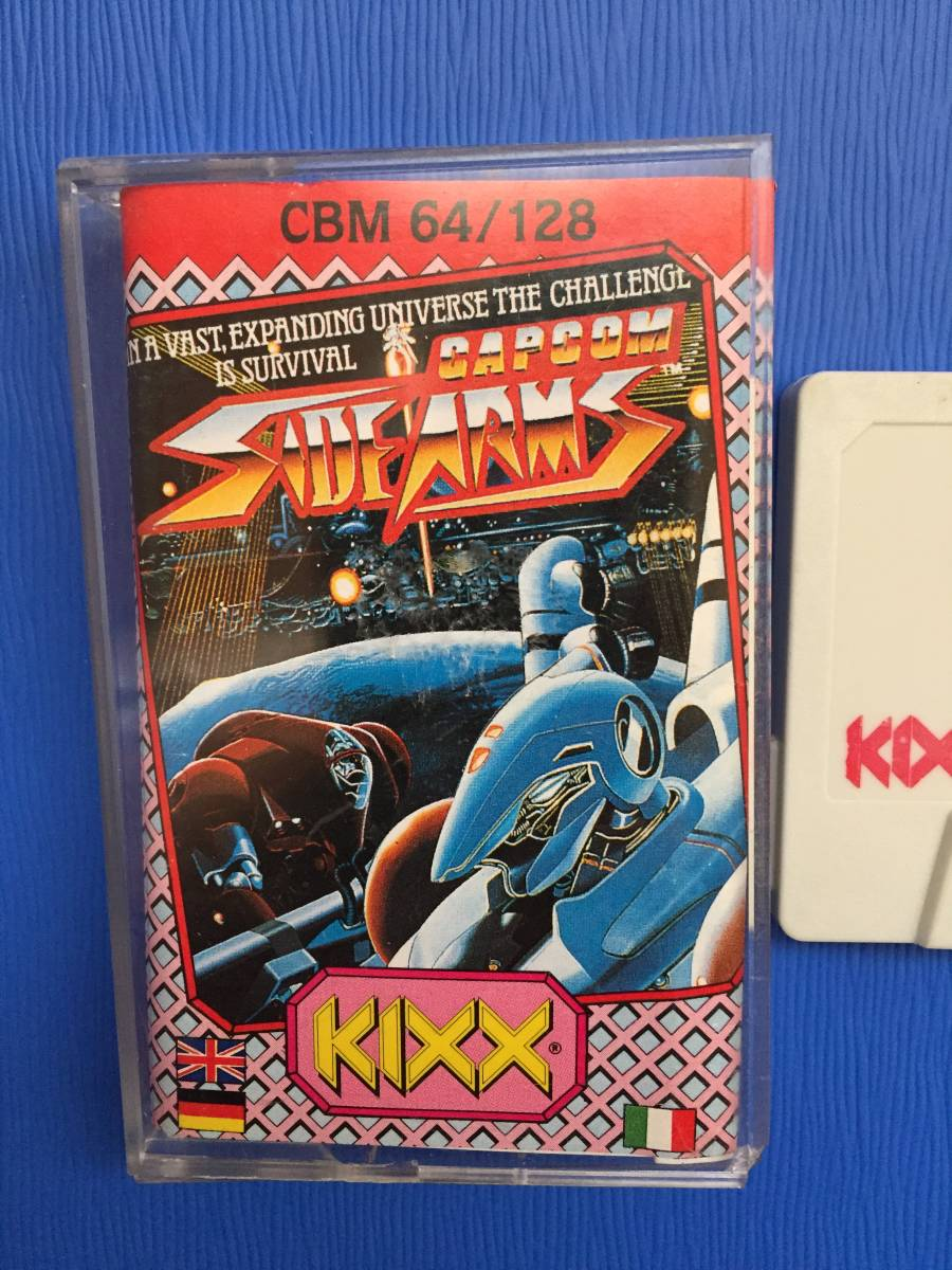 コモドール 64/128 サイドアームズ カプコン 絶対合体 カセットテープ ゲームソフト レトロゲーム シューティング 送料185円~_画像2