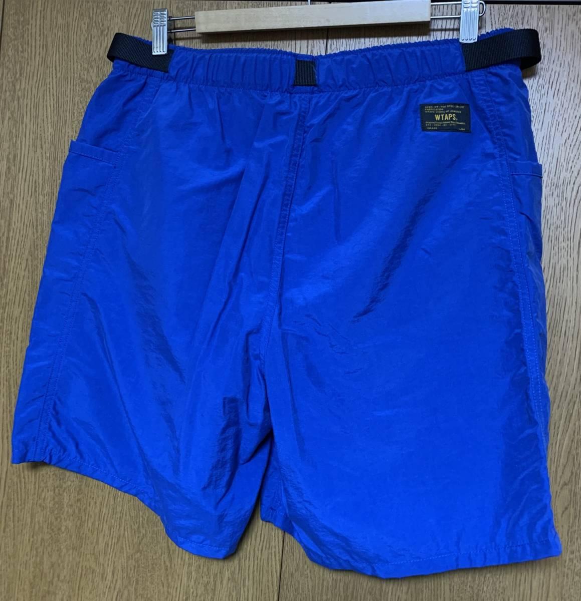 WTAPS ダブルタップス BOARD SHORTS NYLON TUSSAH 14 ショーツ 即決 BLUE ブルー L 3 ハーフパンツ ナイロン パンツ 中古 ボード 青 正規品_画像2
