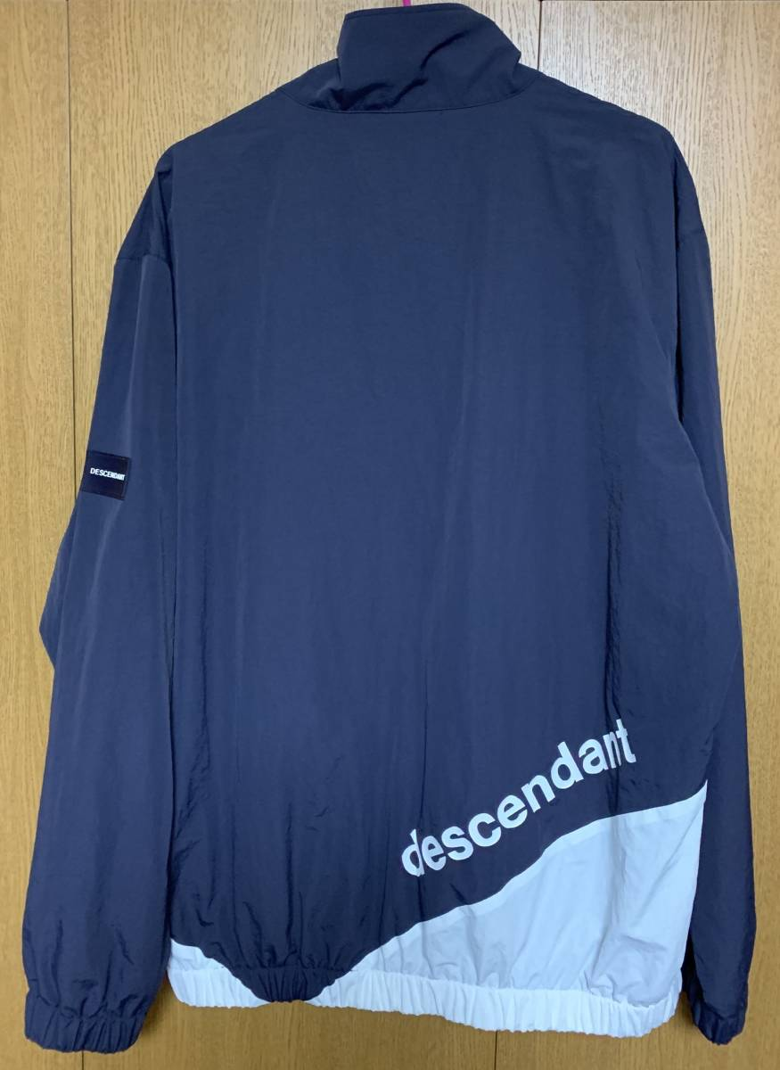 DESCENDANT ディセンダント DOULIE NYLON JACKET TRAINER PANTS セットアップ 2 即決 M 新品 ナイロン NAVY 紺 WHITE 白 正規品 18 S/S SS_画像4