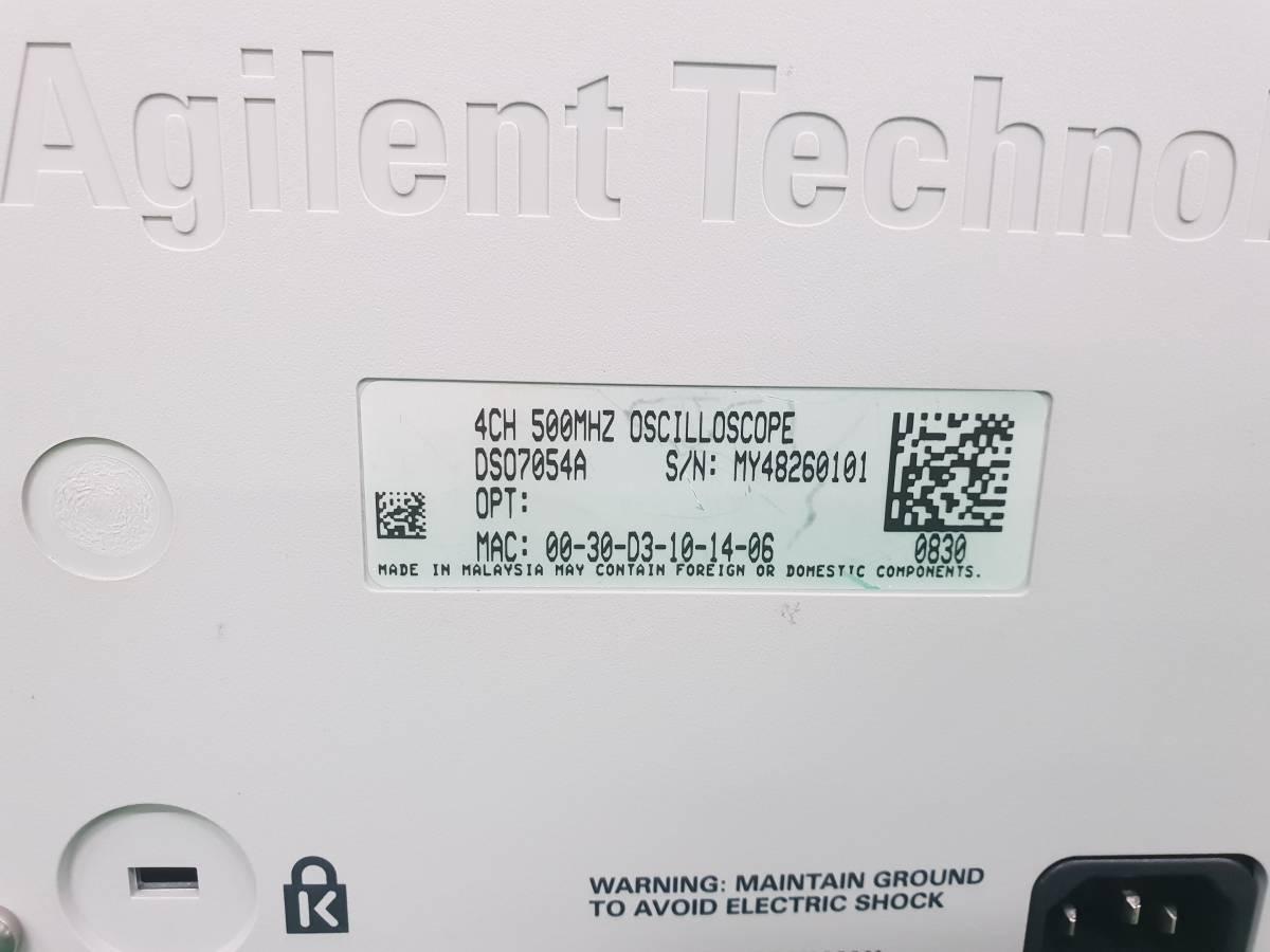 Agilent DSO7054A InfiniiVision Oscilloscope 500MHz 4GS/s 4Ch + 10073C x 4_画像7