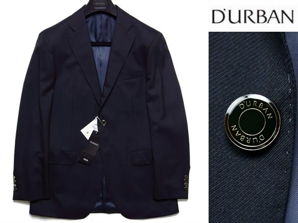 【新品】定価7.4万 ダーバン DURBAN 《拘りの日本製・J∞QUALITY》 上質ウール メタル釦 紺ブレザージャケット A4 濃紺