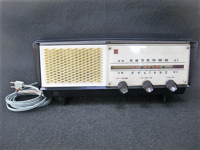 蔵出し/ナショナルラジオ GX-240 真空管ラジオ 松下電器産業 昭和レトロ
