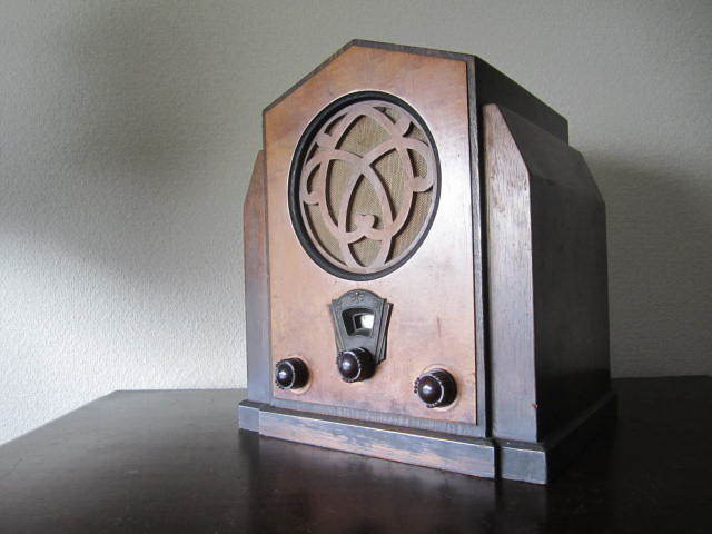 昭和レトロ 真空管受信機