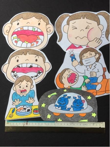 ▲虫歯クイズ のパネルシアター送料込