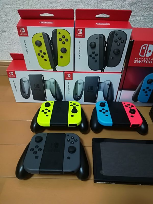 超豪華 Nintendo Switch ニンテンドー スイッチ本体 ネオンブルー/ネオンレッド スマブラ コントローラー多数