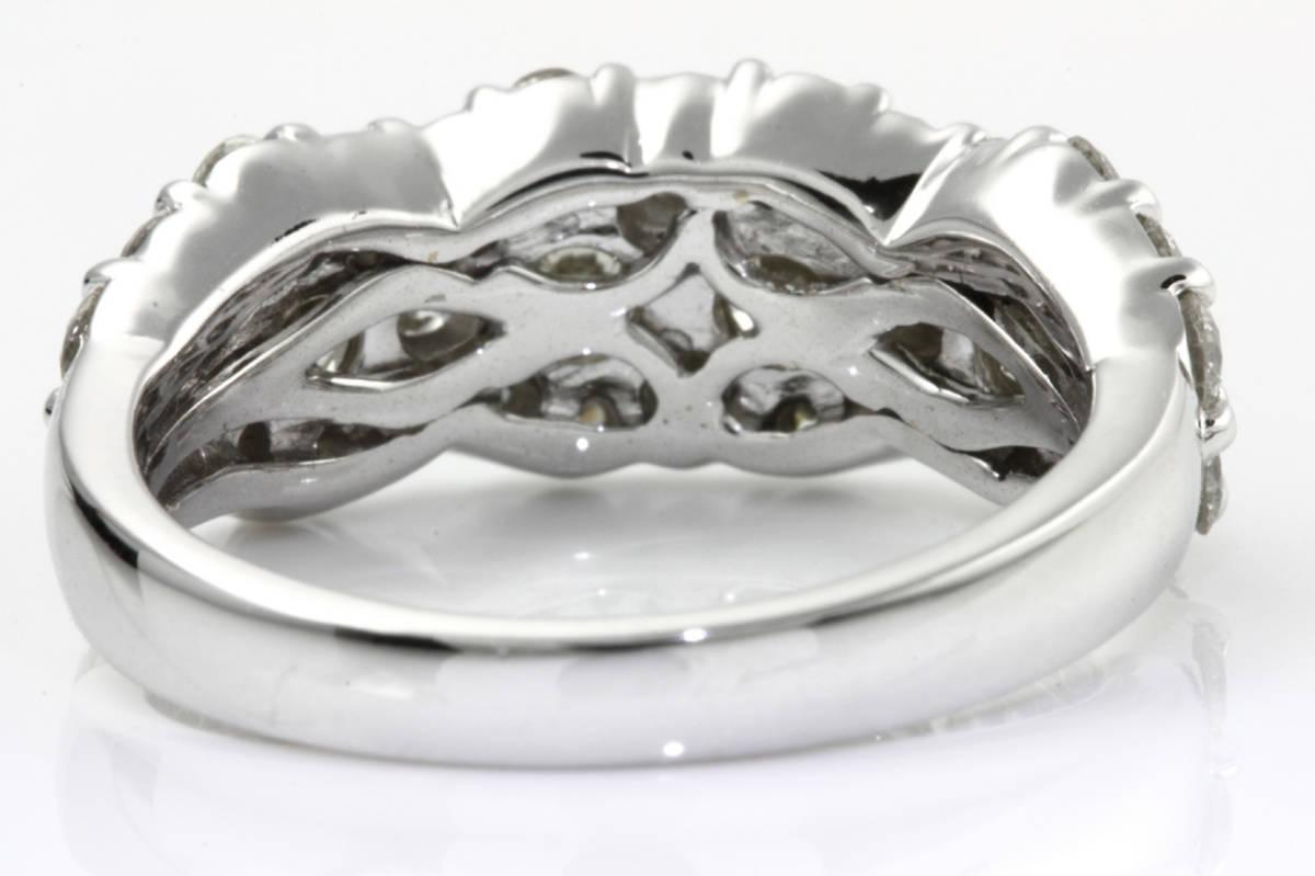 PR303142 【1.80ct】 ダイヤリング 12.5号 K18WG ホワイトゴールド 当社の保証書  1.5ct up_画像5