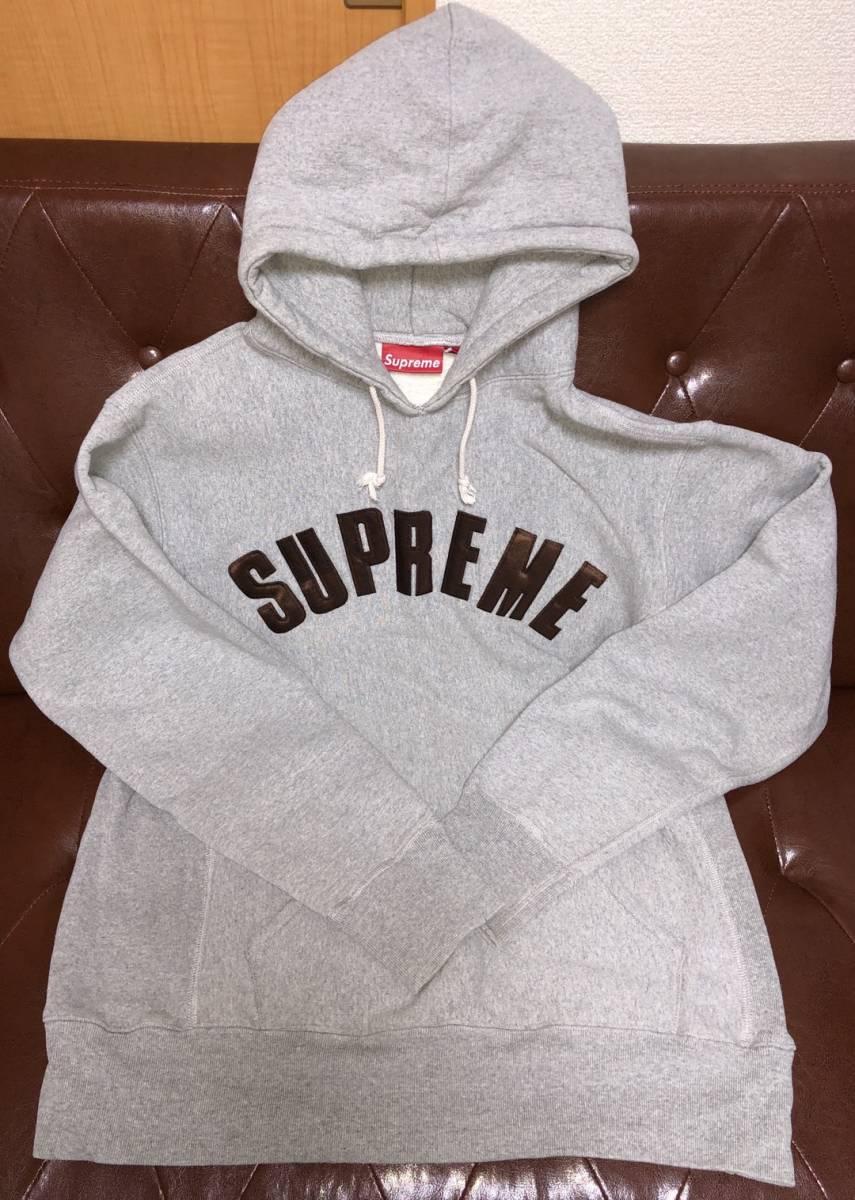 ★送料無料★ Supreme シュプリーム グレー 灰色 パーカー L ロゴ