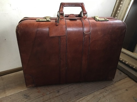 7ae372431c9b 代購代標第一品牌- 樂淘letao - ◎アンティーク雑貨古い革製トランクケース旅行鞄鍵無しアンティークビンテージレトロ