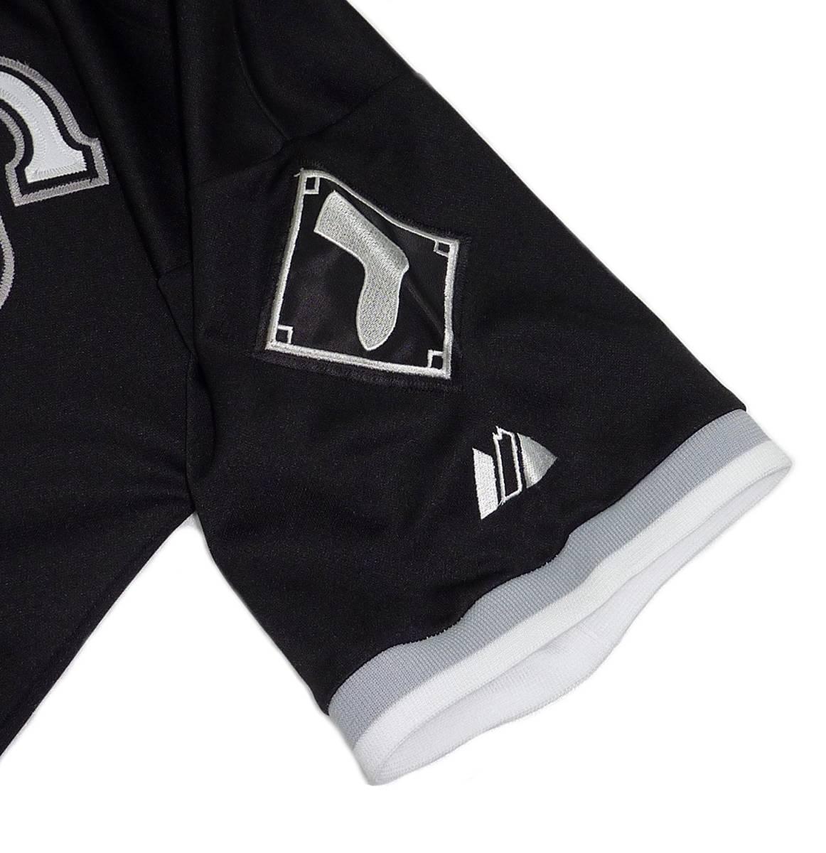 Majestic マジェスティック クーパースタウン マイケル ジョーダン ホワイト ソックス ベースボールシャツ(ブラック)(L)【並行輸入品】 _画像6