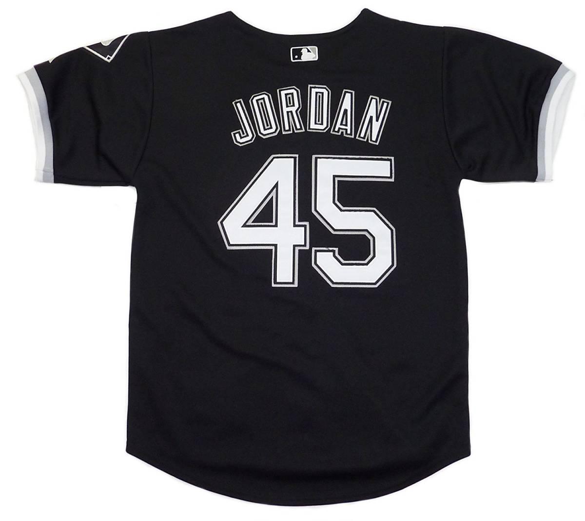 Majestic マジェスティック クーパースタウン マイケル ジョーダン ホワイト ソックス ベースボールシャツ(ブラック)(L)【並行輸入品】 _画像2