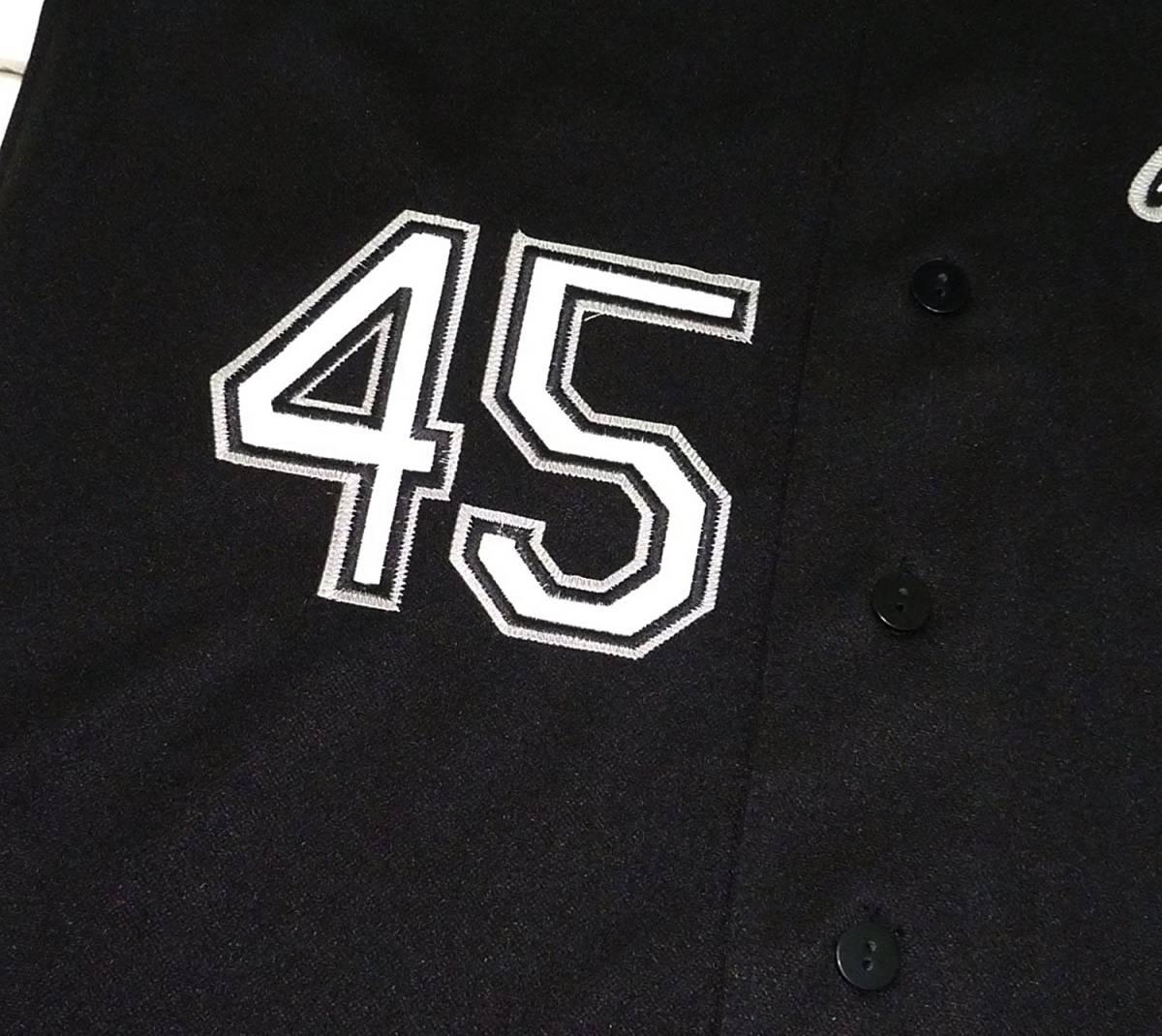 Majestic マジェスティック クーパースタウン マイケル ジョーダン ホワイト ソックス ベースボールシャツ(ブラック)(L)【並行輸入品】 _画像4