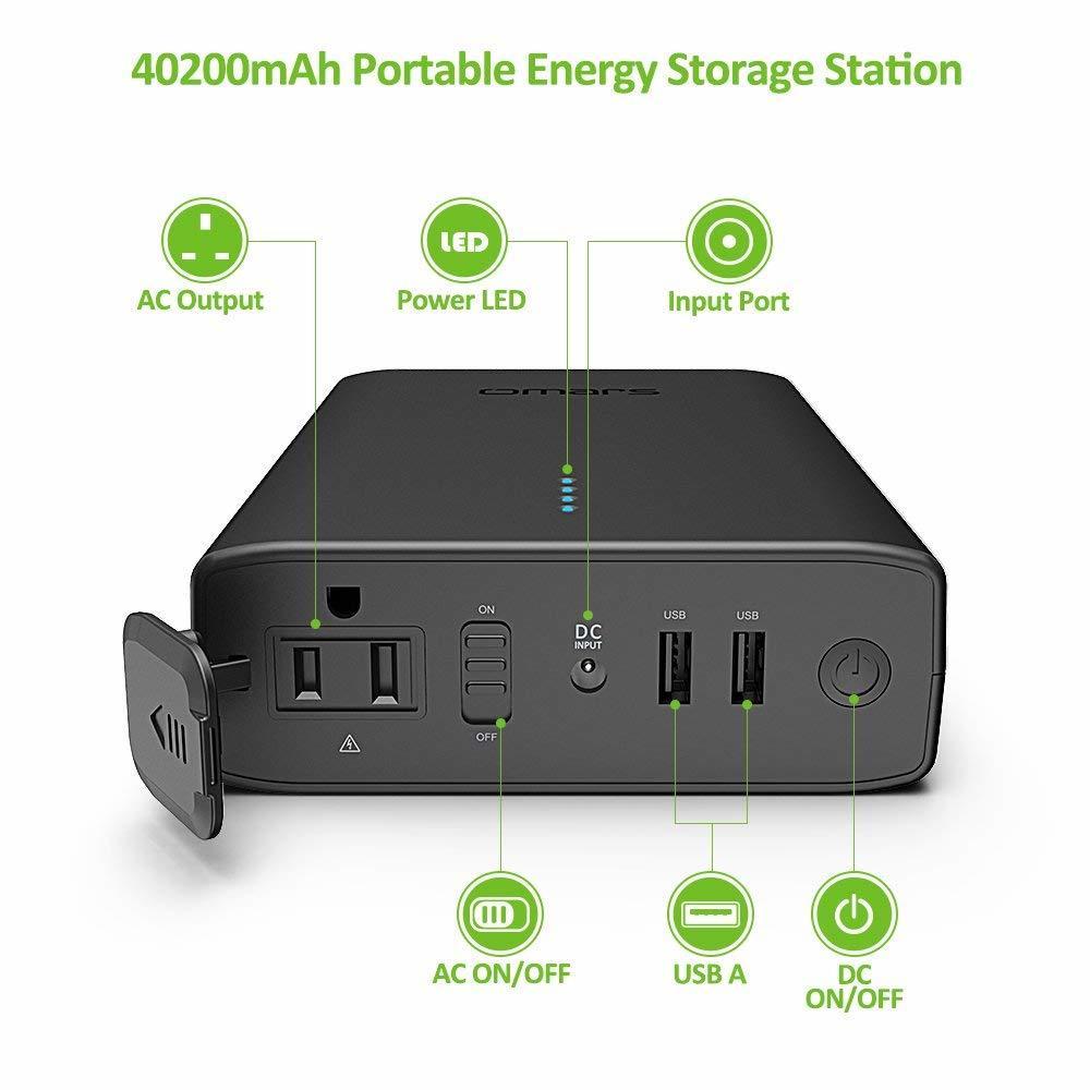 Omars ポータブル電源 AC出力対応 モバイルバッテリー 146Wh 40200mAh 新品_画像3