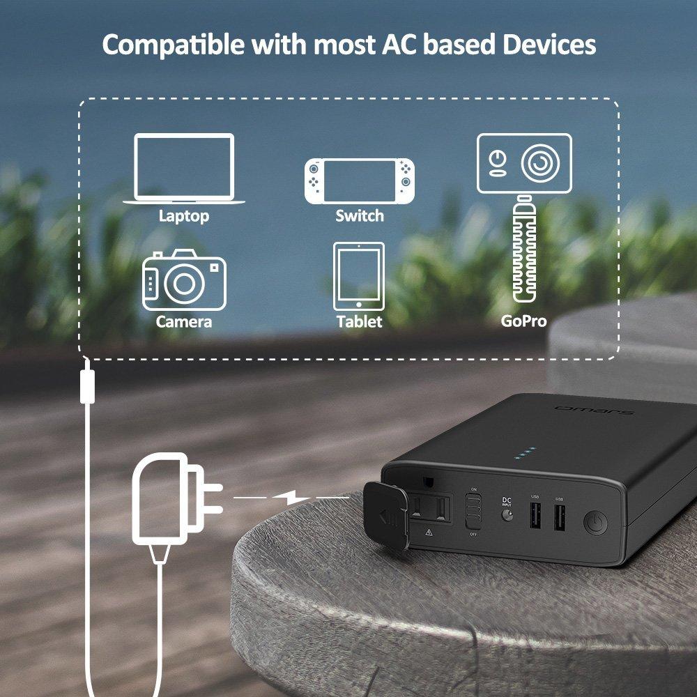 Omars ポータブル電源 AC出力対応 モバイルバッテリー 146Wh 40200mAh 新品_画像5