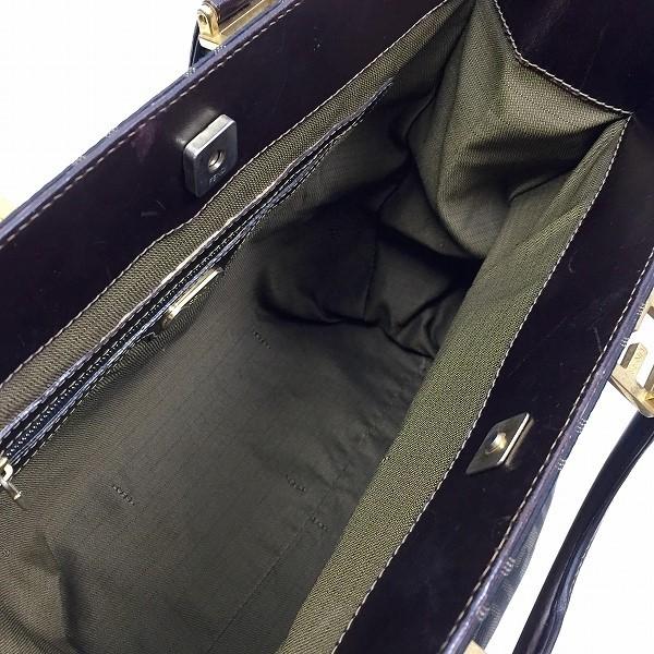 ●フェンディ 人気のゴールド金具 トート ハンドバッグ ズッカ柄 B20-002_画像5
