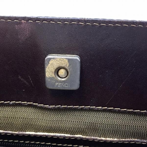 ●フェンディ 人気のゴールド金具 トート ハンドバッグ ズッカ柄 B20-002_画像3