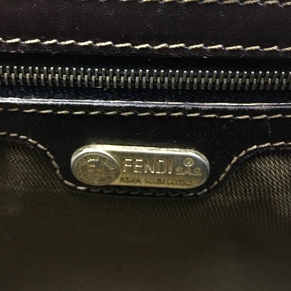 ●フェンディ 人気のゴールド金具 トート ハンドバッグ ズッカ柄 B20-002_画像4