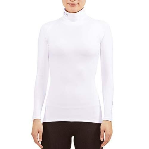 新品 アンダーアーマー コールドギア UA Tシャツ コンプレッションLS レディース UVカット WGF7705 WHT MD 76_画像1