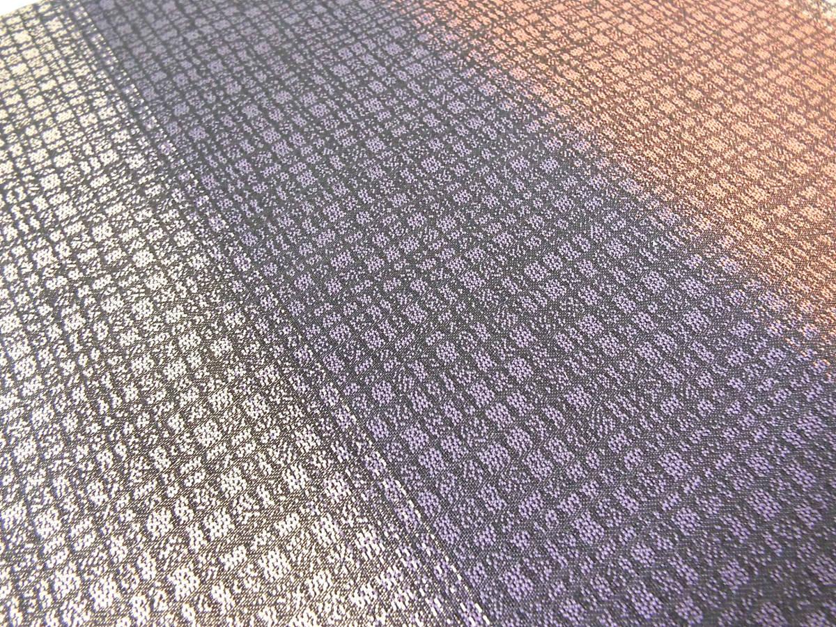 未仕立て 作家物 前田仁仙 友禅 京更紗 全通 袋帯 草/花/鳥模様_画像8